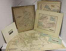 COLLECTION OF 4 LATE 19TH C MAPS AND 2 ENGRAVINGS
