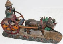 LATE 19TH C CAST IRON MECHANICAL BANK BY