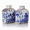 Pair of tea boxes in Chinese porcelain