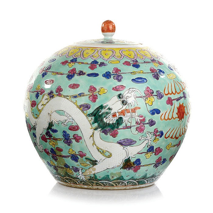 Pot dragons in Chinese porcelain, Tongzhi