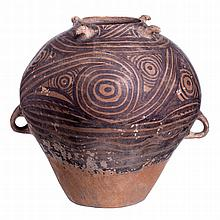 Amphora in painted terracotta, China, Neolithic
