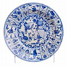 Plate in Chinese porcelain, Transitional