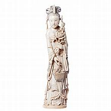 Chinese Guanyin in ivory
