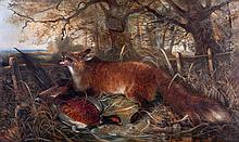 ROBERT CLEMINSON (c.1864-1903) - 'Fox and Pheasant'