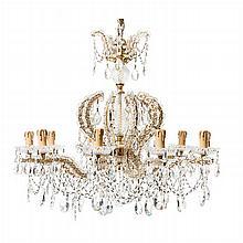 Bohemian crystal ceiling chandelier