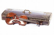 19th century violin with case and bow