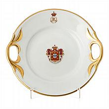 Toast plate with coat of arms by Vista Alegre