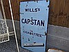 Antique Enamel Wills Capstan Cigarette Advertising