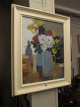 George Potter Still Life with Blue Jug Oil on