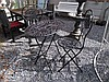 Oval Cast Metal Garden Table with Two Accompanying