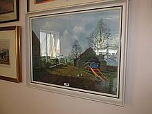 Tristram Hillier Framed Coloured Lithograph The