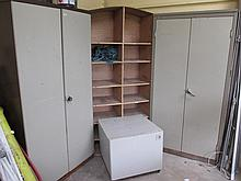 Two Metal Storage Cabinets 72 Inches High x 37