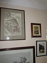 Framed Lot of Three Fine Art Prints Depicting