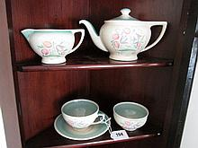 Five Piece Susie Cooper Tea Set