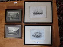 Pair of Framed Etchings Custom House Dublin