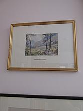 Gilt Framed Watercolour Glendalough County Wicklow