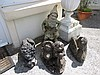 Four Stone Garden Ornaments Largest 23 Inches High