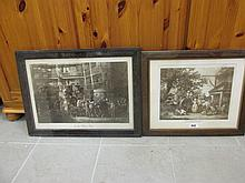 Two Antique Prints The Market Cart and In the