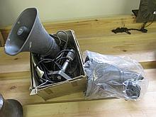 Two Tannoi Speakers and Ribbon Microphone