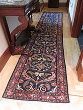 Persian Wool Runner with Patterned Borders and