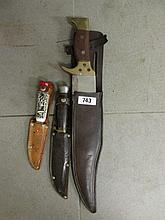 Bowie Knife 14 Inches Long and Two Others