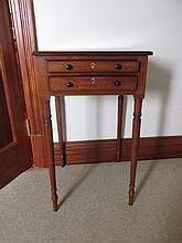 Regency Mahogany Side Table of Neat Size with Two