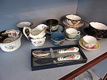 Various China Teacups Saucers and Other