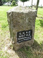 Antique GNR Train Notice Set With Cut Stone 23