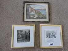 Two Gilt Framed Prints of Neat Size and An