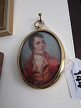 Early Victorian School Brass Framed Oval Miniature