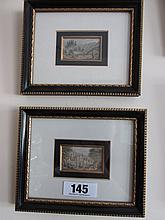 Pair of Antique Gilt Framed Miniature Landscapes
