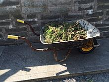 Modern Wheelbarrow with Selection of Garden