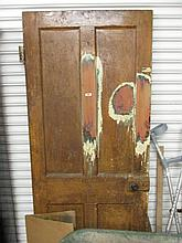 Antique Pitch Pine Door 80 Inches High x 32 Inches