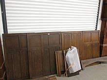 Collection of Edwardian Oak Panelling A Quantity