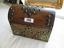 Victorian Burr Chestnut Silk Lined Stationary Box