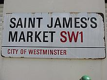 Original Antique Large Vintage St James Market