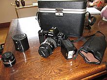 Vintage Nikon Camera In Original Case with
