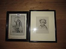 Eighteenth Century or Earlier Framed Etching of