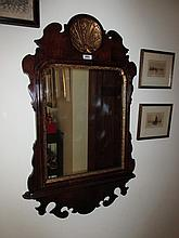 Antique Chippendale Mahogany and Gilt Framed