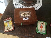 Two Bridge Boxes Including Antique Playing Cards 7