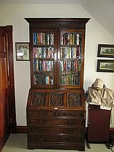 Two Door Bureau Bookcase with Fitted Interior