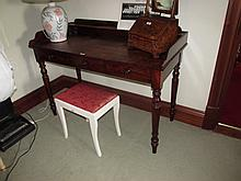 Early Victorian Mahogany Side Table with Three