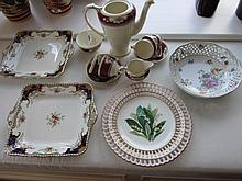 Edwardian Porcelain Tea Set with Floral Decoration