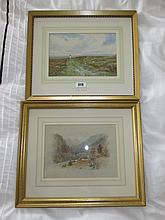 William C Estall Gilt Framed Watercolour of