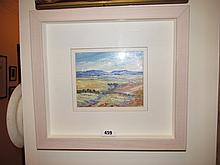 Framed Oil on Board by Inale Roux A Country Side