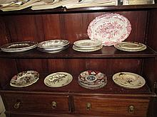 Collection of Various Antique Plates