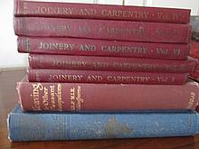 Seven Antique Volumes of Woodworking and Joinery