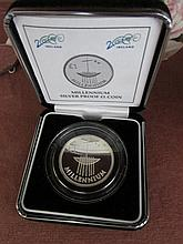Millennium Solid Silver Collectors Coin in