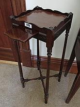 Edwardian Mahogany Side Table on Turned Supports