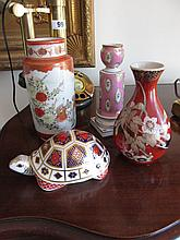 Three Pieces of Oriental Porcelain and A French